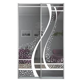 Двери с рисунком в шкаф 1392 мм