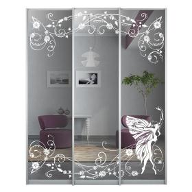Двери с рисунком в шкаф 1808 мм