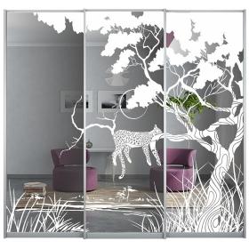 Двери с рисунком в шкаф 2384 мм